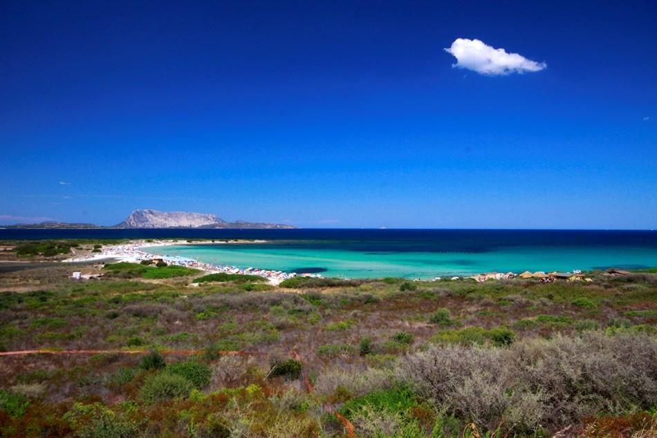 Pláž Isuledda - San Teodoro, Sardinie