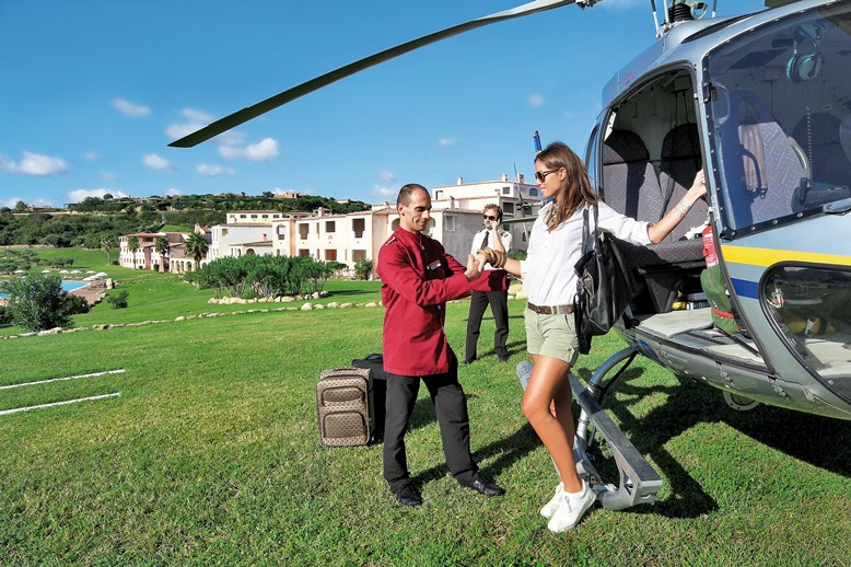 Colonna Resort - Heliport, Porto Cervo, Costa Smeralda, Sardinie