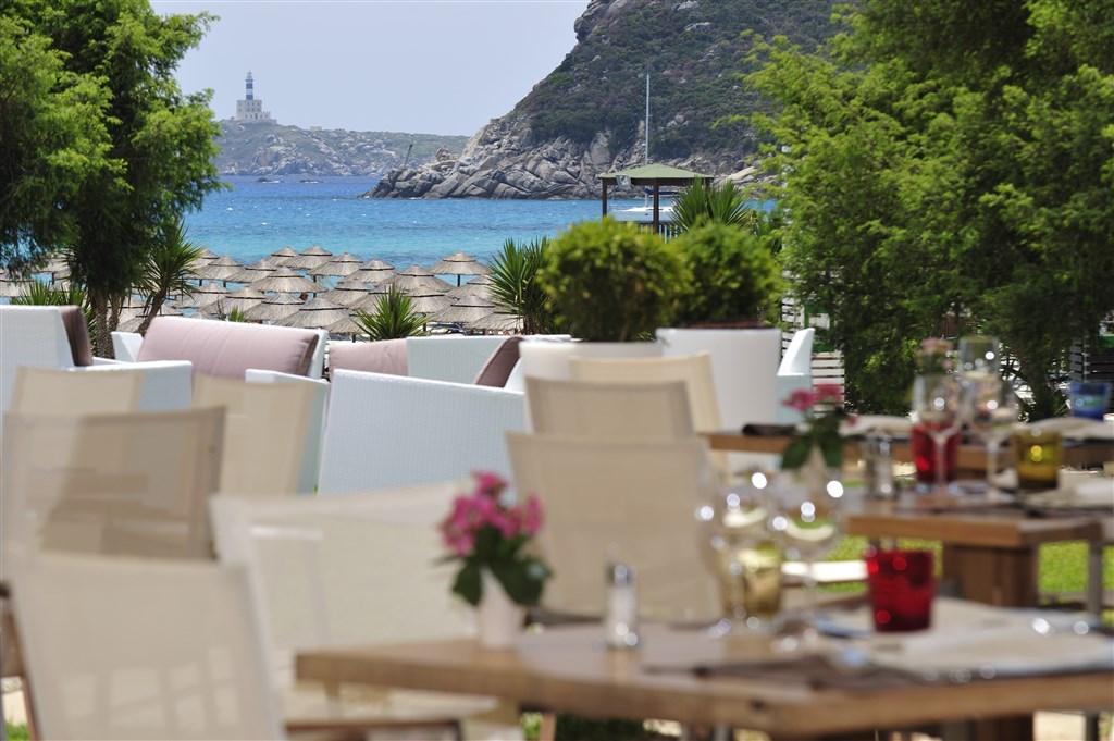 Restaurace I Ginepri, Villasimius, Sardinie