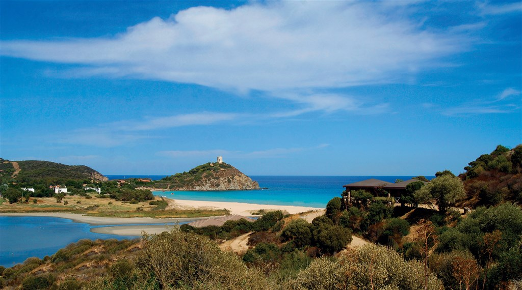 Panoramatický výhled, Chia, Sardinie