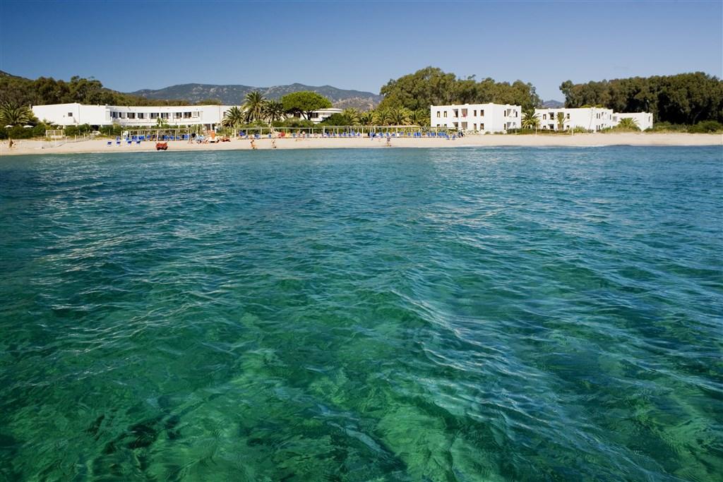 Resort z moře, Pula, Sardinie
