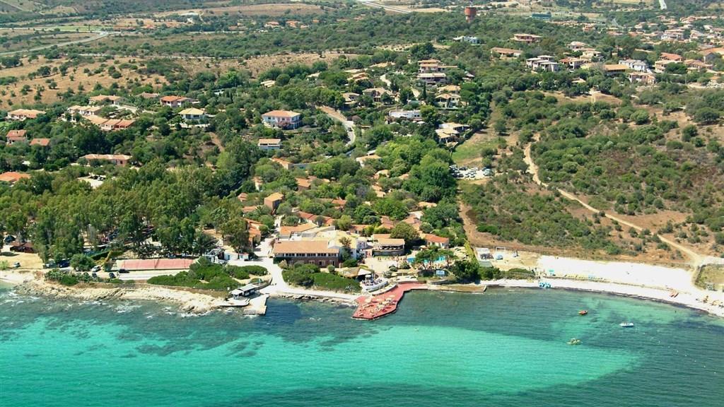 Letecký pohled, San Teodoro, Sardinie