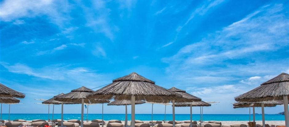 Plážový servis, Villasimius, Sardinie