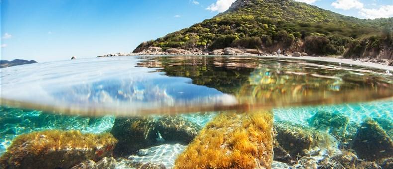 Mořské dno, Villasimius, Sardinie