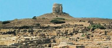 Pozůstatky Tharrosu na poloostrově Sinis