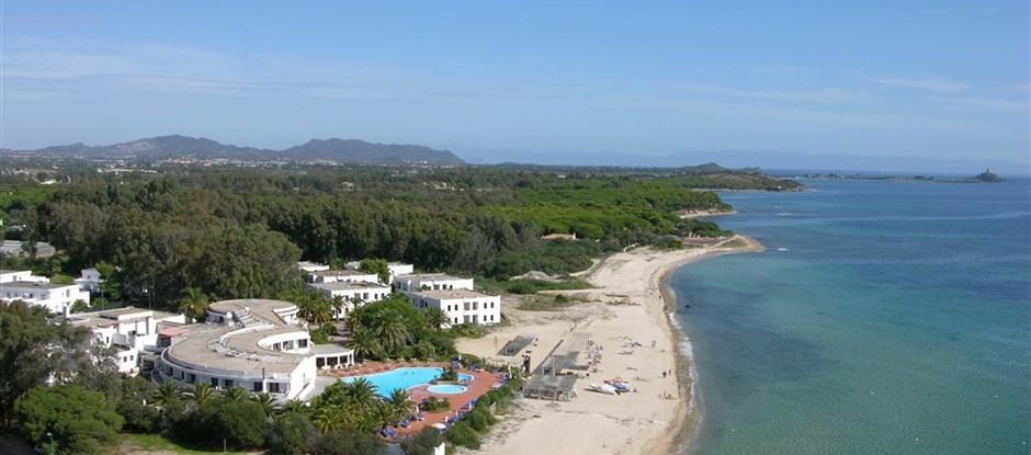 Letecký pohled, Pula, Sardinie